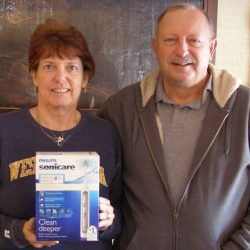 Ray won a Sonicare Toothbrush