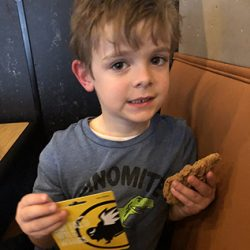 Harper M. won the March Madness gift card to Buffalo Wild Wings