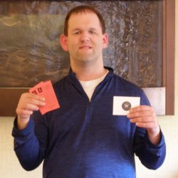 Ben won tickets to the Festival of Trees along with a gift card to Woodfire Grill